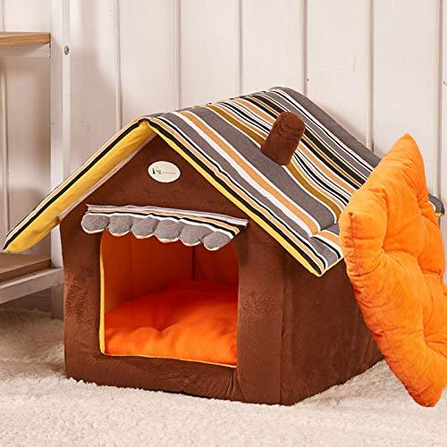 CXYDP Perro de Mascota House Bed con el Amortiguador, Lavable Cueva Gato...