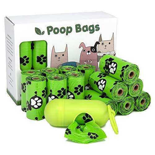 ChuJun 240 Sacchetti per cacca di cane Con 1 distributore di sacchetti ,sacchetti per cacca compostabili cologici e biodegradabili,33*23cm Stile più spesso e impermeabile e impermeabile(16rotoli)