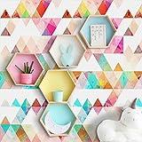 Etopfashion Stickers muraux, géométrique Triangle Wall Art Sticker Stickers peintures murales pour Chambre Salon Bureau dortoir
