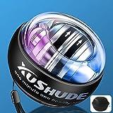 XUSHUDE Gyro Energy Training Ball Accesorios de fitness Entrenador manual LED, Bola giratoria (con bolsa de bolas)