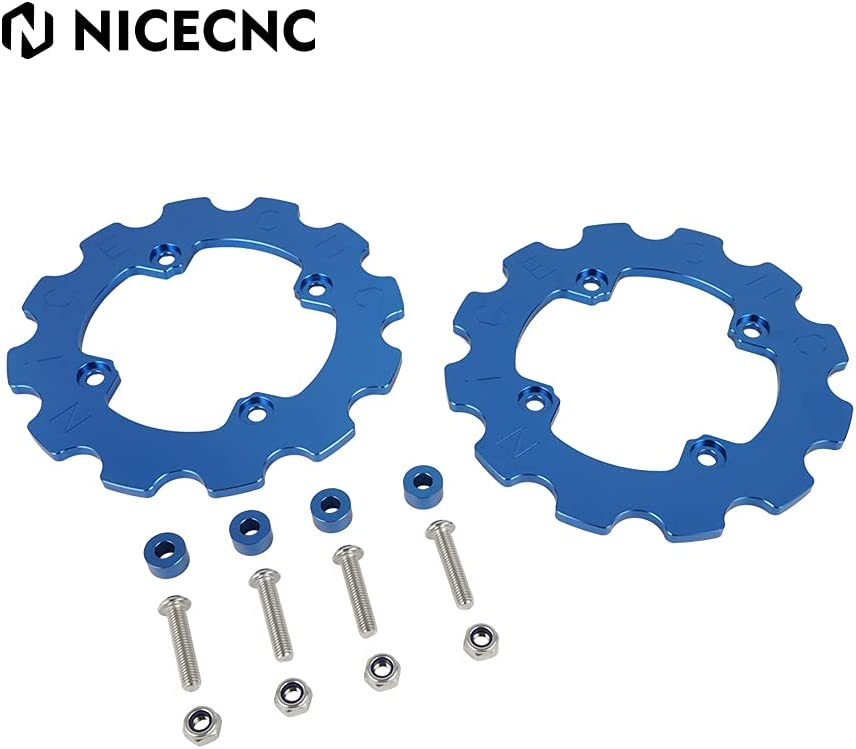 NICECNC Blue Dual Our shop OFFers the best service Sprocket Chain Protector El Paso Mall Compatible with Guard