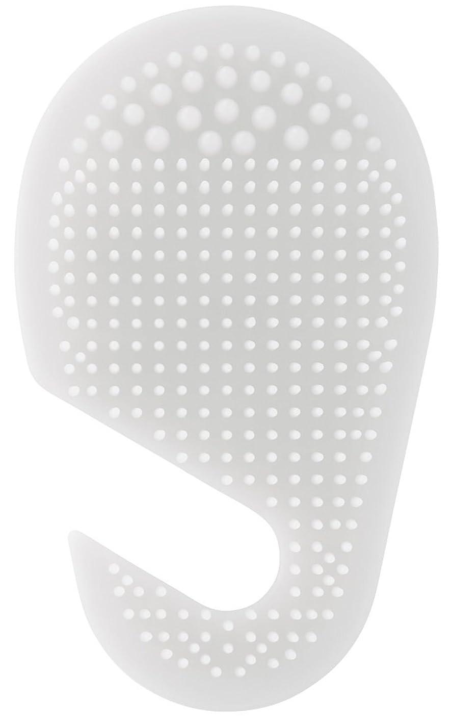 脚問題内向きスケーター 足の裏用 マッサージ ブラシ 10.2×2×17cm ホワイト SLFT1