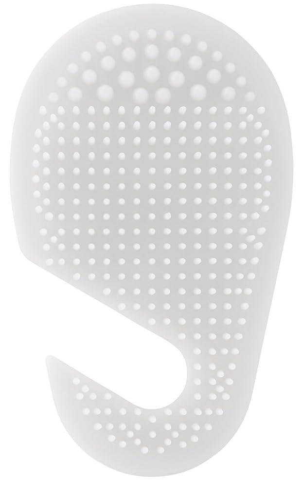 モニター繰り返した演じるスケーター 足の裏用 マッサージ ブラシ 10.2×2×17cm ホワイト SLFT1