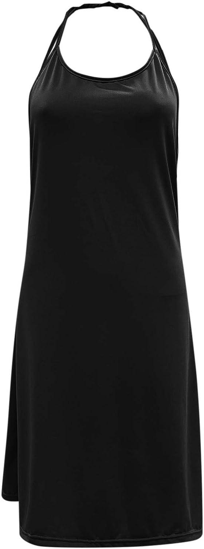 Sun Dresses Women Sexy,Women's 2021 Casual V Neck Sleeveless Stretchy Shirt Short Criss Cross Hallow Out Open Back Mini Dress
