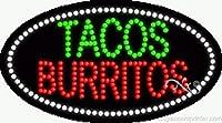 Tacos Burritos Flashing &アニメーションLEDサイン( High Impact、エネルギー効率的な)