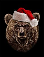 【FOX REPUBLIC】【グリズリーベア クマ 熊 クリスマス】 黒光沢紙(フレーム無し)A4サイズ