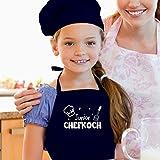 Shirtracer Kinderschürze mit Motiv - Junior Chefkoch - 60 cm x 50 cm (H x B) - Navy Blau - kochmütze kinder jungen - X978 - Kochschürze und Schürze für Kinder - 3