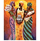OKOUNOKO Rompecabezas De 1000 Piezas para Adultos Figura Tradicional De Las Mujeres De África En Kits De Bricolaje para La Decoración del Hogar Personalizado De Madera Montaje Rompecabezas Divertido