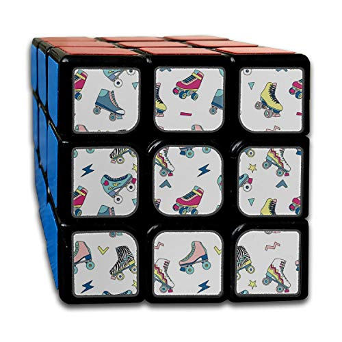 Custom 3x3 Speed Cubes 3x3 Best Brain Training Toys 3x3x3 Sports Roller Skate Shoes Magic Cubes for Kids Party Game for Boys Girls Kids Toddlers-55mm