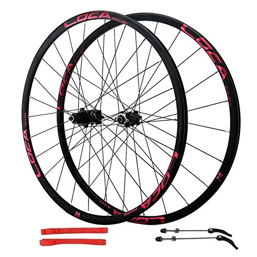 VPPV MTB Cycling Wheels 700C 27.5 Inch, Double Wall Quick Release 24 Hole Disc Brake Hybrid/Mountain Rim 8 Speed (Size : 26inch)