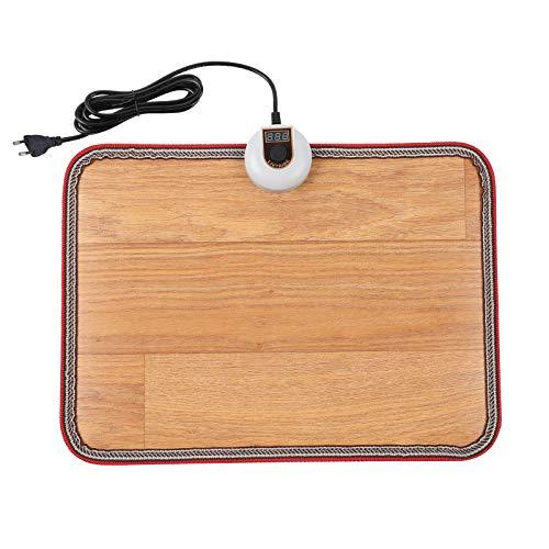 Livtribe AC 230V beheizte Fußbodenmatte, Holzstreifen Kohlekristall Heizpad, elektrisch beheizte Fußwärmer für Büro, Haus