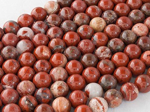 Beads Ok, Perline Rotonde Pietra Gemma Semi Preziose Diaspro Rosso Brecciato Naturale 6mm Circa 38cm un Filo. Venduto da Filo. 6mm Round Natural Brecciated Red Jasper Gemstone Beads