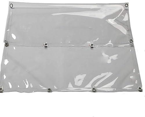 LYN Bache résistante avec Le Plastique Transparent perforé en métal rembourré imperméable pour Le Pique-Nique de Camping de Culture de Tente de Couverture de Pluie extérieure, 690g   M2