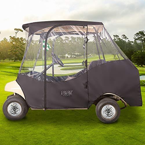 10L0L 4 Passenger Golf Cart Driving Enclosure (2 Passenger Short Roof 58
