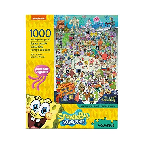 AQUARIUS Spongebob Squarepants Puzzle (1000 Piece Jigsaw Puzzle) - Officially Licensed Spongebob Merchandise & Collectibles - Glare Free - Precision Fit - Virtually No Puzzle Dust - 20 x 28 Inches