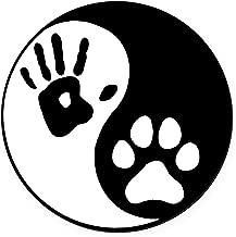 CafePress - Human & Dog Yin Yang - Round Car Magnet, Magnetic Bumper Sticker