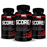 Score! Nitric Oxide Booster Supplement for Men with L-Citrulline to Improve Blood Flow, Enhance Workout Performance, and Increase Vascularity for Greater Muscle Pumps, Force Factor, 228 Capsules