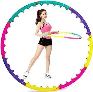 GHH Hula Hoop Aros de Hula Inteligentes para Adultos con Peso, con 8 Secciones de Espuma para Fitness y pérdida de Peso,con Aptitud Exercise Aptitud Física para Interior Al Aire Libre