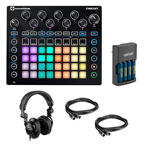 Best Prices! Novation Circuit Groove Box + Sample Import with Watson Rapid Charger, 2x MID-310 MIDI ...