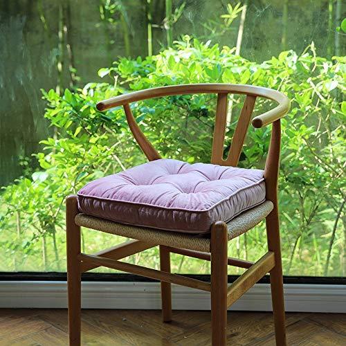 Ltjqsm 6 Colores Silla Resistente a la Suciedad Cojín Velvet Plaza Casa Comedor Comodidad Asiento Cojín Cojín Cojín Almohada Puf Tirar Sofá Decoración (Color : Pink, Specification : 40x40cm)