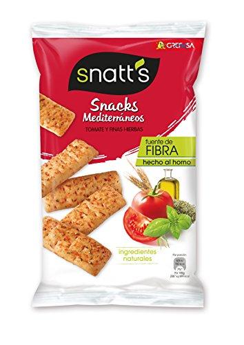 Grefusa - Snatt's | Snacks Mediterráneos - Palitos de Pan de Tomate y Finas Hierbas - 110 gr