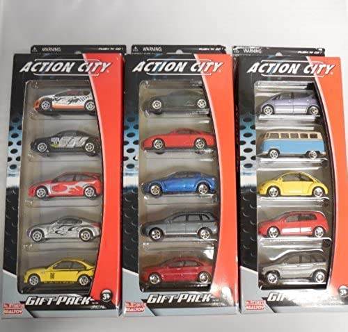 Daron Street Car Vehicle Gift Set, 5-Piece by Daron