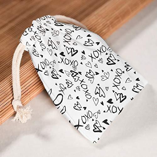 Toomjie - 5 paquetes de 5 cuerdas con forma de corazón para cumpleaños, boda, en forma de corazón, reutilizables, duraderas, con doble cordón de algodón, 12 x 18 cm, color blanco