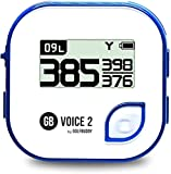 GolfBuddy Clip on Voice 2 Golf Navigation GPS for Hat / GPS and Laser Rangefinder, 14 Hours Battery Life, Water Resistant with Lifetime Free Courses and Software Updates, White/Blue