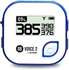 GolfBuddy Voice 2 Golf GPS/Rangefinder, easy to use talking Golf GPS reads your distances aloud at the press of a button. Upto 11 languages out of which 8 preloaded languages with a choice of male or female voice options through free GolfBuddy Manage...