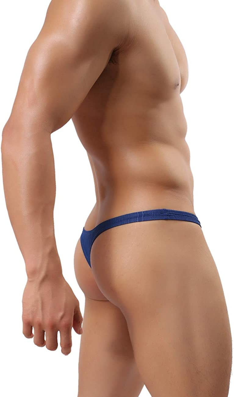 MuscleMate Hot Men's Thong G-String Underwear, Hot Men's Thong T-Back Undie, No Visible Lines.