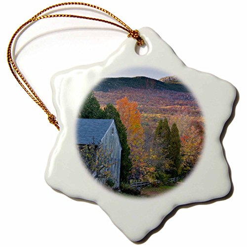 3dRose Mt Monadnock, Jaffrey, New Hampshire-US30 JMO1332-Jerry and Marcy Monk Man Snowflake Ornament