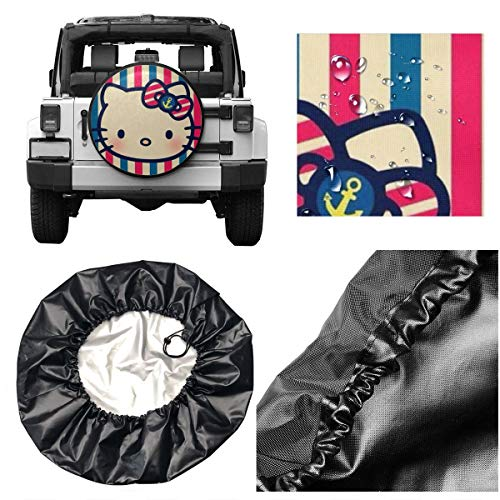 Spare Tire Cover Hello Kitty Head Universal Waterproof Dust-Proof Wheel Covers