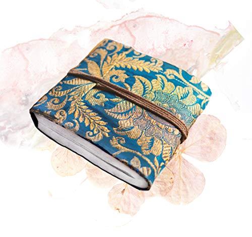 Mini taccuino con note di loto in carta riciclata, in tessuto indiano, per diari di viaggio, taccuino per schizzi, scrittura sensibile, diario di carta semplice per donne e uomini