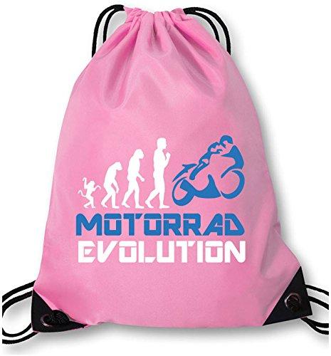 EZYshirt® Motorrad Evolution Turnbeutel