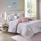 Urban Habitat Kids Comforter Vibrant Fun and Playful Unicorn Print Down Alternative All Season Children Bedding-Set, Girls Bedroom Décor, Full/Queen, Pink 5 Piece