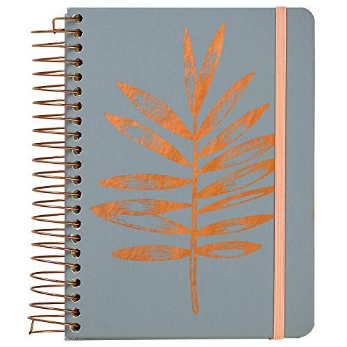 C.R. Gibson cuaderno de hojas de cobre, tres en uno, en blanco, con forro y cuadrícula de puntos, 6.25 pulgadas de ancho x 8.3 pulgadas de largo, 480 páginas