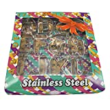 Large Alphabet Cookie Cutters Set, Stainless Steel Letters Cookie Cutters Decorating Tool ...