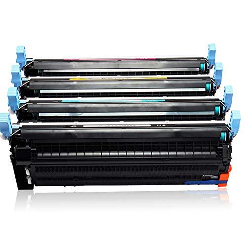 WBZD Cartucho de tóner de color compatible con HP CP4005 CP4005n CP4005dn Cartuchos de tinta para impresoras láser de color negro, cian magenta, amarillo 4colors