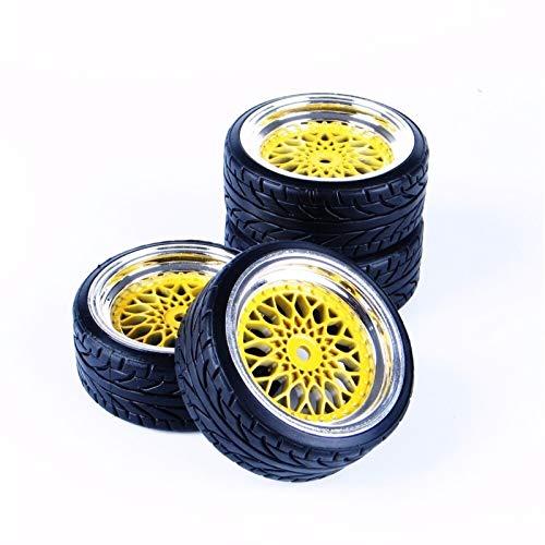 Conveniente neumático de coche Rc, 1/10 Neumáticos coche plano de deriva del neumático y 12 mm Hex borde de la rueda for HSP HPI HH0232 01:10 Model en el camino RC 12 mm Hex accesorios para modelo de