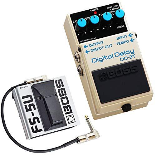 Boss DD-3T - Pedal de efectos digital (incluye pulsador FS-5U y cable Keepdrum de 30 cm)