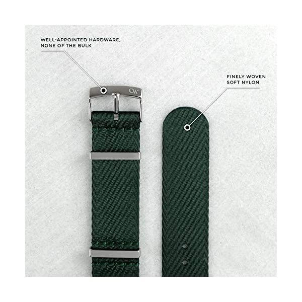 OnceWill NATO Strap 20mm Watch Band with Finely Woven Soft Nylon and Slim Low Profile Hardware – Multiple Colorways