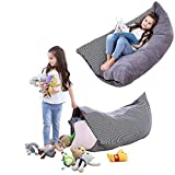 SMRONAR Stuffed Animal Storage Bean Bag Chair, Large Bean Bag Chair for Kids, Bean Bag Cover for Organizing Kid's Room, Plush Toys Holder and Organizer for Boys and Girls