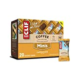 CLIF BARS Minis with 1 Shot of Espresso - Energy Bars - Cappuccino Flavor - Coffee Collection 65 mgs of Caffeine Per Bar Made with Organic Oats Plant Based Food (0.99 Ounce Breakfast Bars, 20 Count)