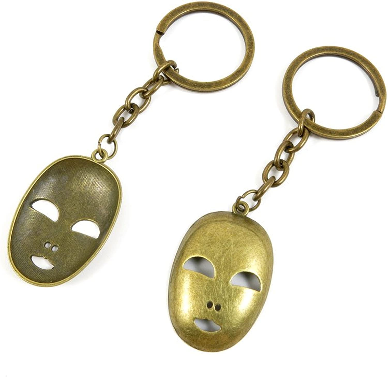 140 Pieces Fashion Jewelry Keyring Keychain Door Car Key Tag Ring Chain Supplier Supply Wholesale Bulk Lots R6AV2 Smiley Mask