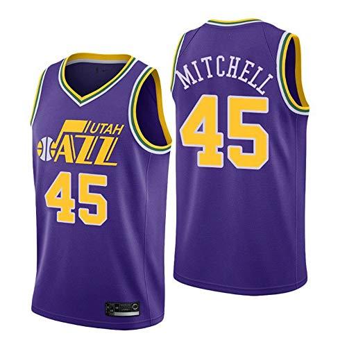 Uniforme de Aficionado al Baloncesto Unisex,P/úrpura,S:170cm//50~65kg Tela Transpirable Fresca Nuevas Camisetas Retro Bordadas LSJ-ZZ Camiseta de Baloncesto NBA Utah Jazz # 12 Stockton