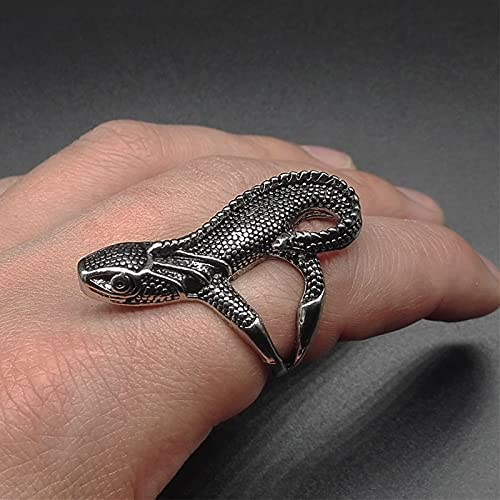 Newsindel Vintage Now free shipping Lizard Ring for Punk Woman Biker and Spring new work Man