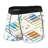 HUMYBEN Un Piano Keys con Notas Musicales Boxer Calzoncillos Hombre Ropa Interior Corta Pierna Poliéster S, S4., XL