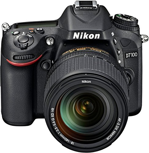 "Nikon D7100 - Cámara réflex Digital de 24.1 MP (Pantalla 3.2"", estabilizador óptico, vídeo Full HD), Negro - Kit con Objetivo 18-140 mm VR"