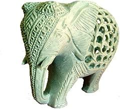 "6"" Indian Handmade Marble Soapstone Elephant - Baby inside Mother's Tummy"