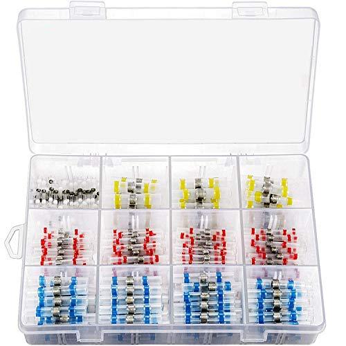 WFBD-CN Batterieklemmen Solder Ring Terminal 400pcs Boxed Lötanschluss Wasserdicht isolierte Wärmeschrumpfende Klemme